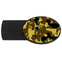 Camo Pattern  4gb Usb Flash Drive (oval)