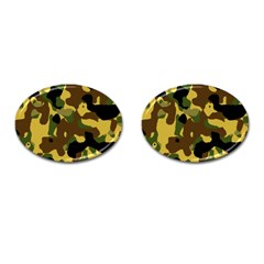 Camo Pattern  Cufflinks (oval)
