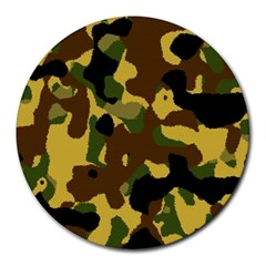 Camo Pattern  8  Mouse Pad (round)