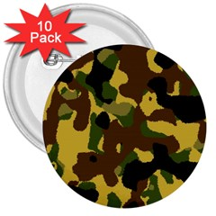 Camo Pattern  3  Button (10 Pack)