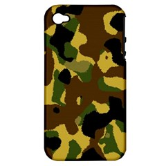 Camo Pattern  Apple Iphone 4/4s Hardshell Case (pc+silicone)