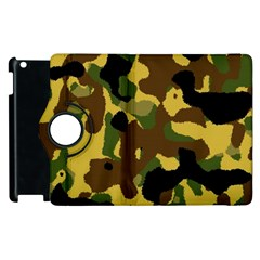 Camo Pattern  Apple Ipad 3/4 Flip 360 Case