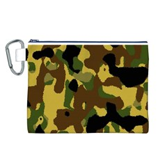 Camo Pattern  Canvas Cosmetic Bag (Large)