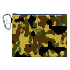 Camo Pattern  Canvas Cosmetic Bag (XXL)