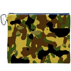 Camo Pattern  Canvas Cosmetic Bag (XXXL)