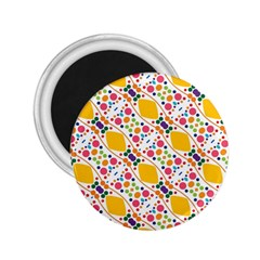 Dots And Rhombus 2 25  Magnet