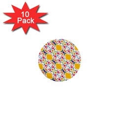 Dots And Rhombus 1  Mini Button (10 Pack)