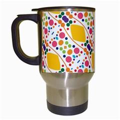 Dots And Rhombus Travel Mug (white)