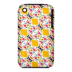 Dots and rhombus Apple iPhone 3G/3GS Hardshell Case (PC+Silicone)