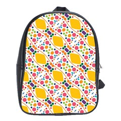 Dots And Rhombus School Bag (xl)