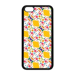 Dots and rhombus Apple iPhone 5C Seamless Case (Black)