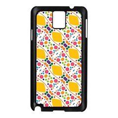 Dots and rhombus Samsung Galaxy Note 3 N9005 Case (Black)