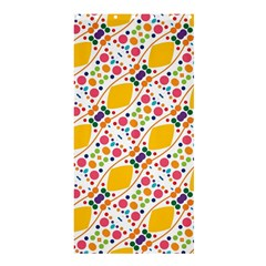 Dots and rhombus Shower Curtain 36  x 72  (Stall)