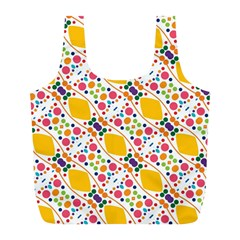 Dots and rhombus Full Print Recycle Bag (L)
