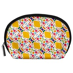 Dots and rhombus Accessory Pouch (Large)