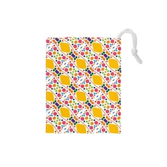 Dots and rhombus Drawstring Pouch (Small)