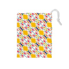 Dots And Rhombus Drawstring Pouch (medium)