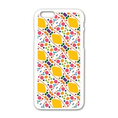 Dots and rhombus Apple iPhone 6 White Enamel Case