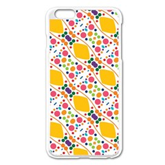 Dots And Rhombus Apple Iphone 6 Plus Enamel White Case