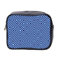 Blue Maze Mini Toiletries Bag (two Sides)