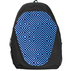 Blue Maze Backpack Bag
