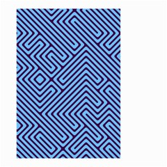 Blue maze Small Garden Flag (Two Sides)