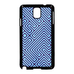 Blue maze Samsung Galaxy Note 3 Neo Hardshell Case (Black)