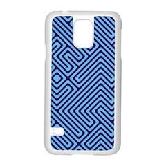 Blue maze Samsung Galaxy S5 Case (White)