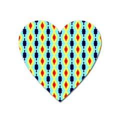 Yellow Chains Pattern Magnet (heart)