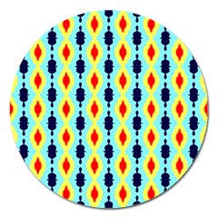 Yellow Chains Pattern Magnet 5  (round)
