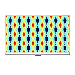 Yellow Chains Pattern Business Card Holder