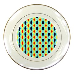 Yellow Chains Pattern Porcelain Plate