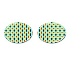 Yellow Chains Pattern Cufflinks (oval)
