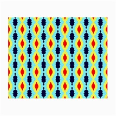 Yellow Chains Pattern Glasses Cloth (small, Two Sides)