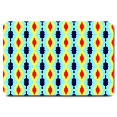 Yellow chains pattern Large Doormat
