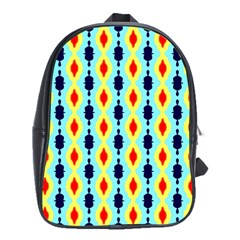 Yellow Chains Pattern School Bag (large)