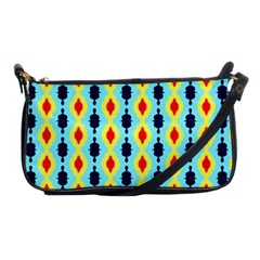 Yellow Chains Pattern Shoulder Clutch Bag
