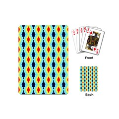 Yellow Chains Pattern Playing Cards (mini)