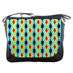 Yellow Chains Pattern Messenger Bag