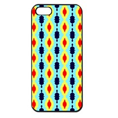 Yellow Chains Pattern Apple Iphone 5 Seamless Case (black)