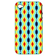 Yellow Chains Pattern Apple Iphone 4/4s Hardshell Case (pc+silicone)