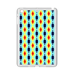 Yellow chains pattern Apple iPad Mini 2 Case (White)