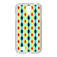 Yellow Chains Pattern Samsung Galaxy S4 I9500/ I9505 Case (white)