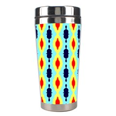Yellow chains pattern Stainless Steel Travel Tumbler