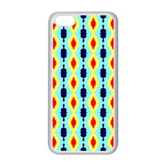 Yellow Chains Pattern Apple Iphone 5c Seamless Case (white)