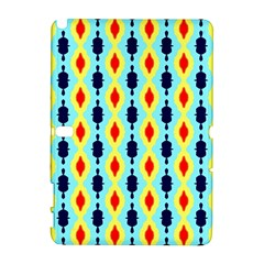 Yellow chains pattern Samsung Galaxy Note 10.1 (P600) Hardshell Case