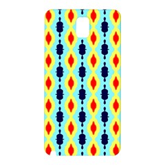 Yellow Chains Pattern Samsung Galaxy Note 3 N9005 Hardshell Back Case