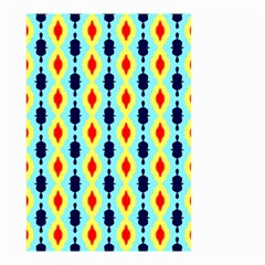 Yellow chains pattern Small Garden Flag (Two Sides)
