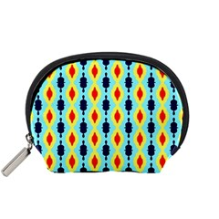 Yellow Chains Pattern Accessory Pouch (small)