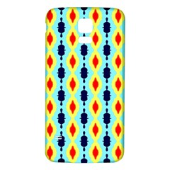 Yellow chains pattern Samsung Galaxy S5 Back Case (White)